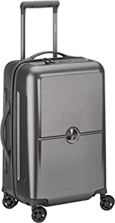 Delsey Paris Turenne 55 cm 4 Double Wheels Cabin Expandable Trolley Carry-On (Hardside), Silver (00162180111)