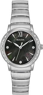 Bulova - Classic Reloj de mujer diamante cuarzo 28mm correa de acero 96R213