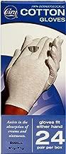 CARA Moisturizing Eczema Cotton Gloves, Small, 24 Pair