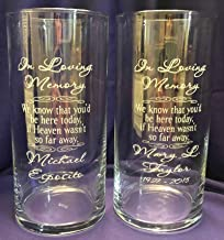 personalized memorial vases for weddings
