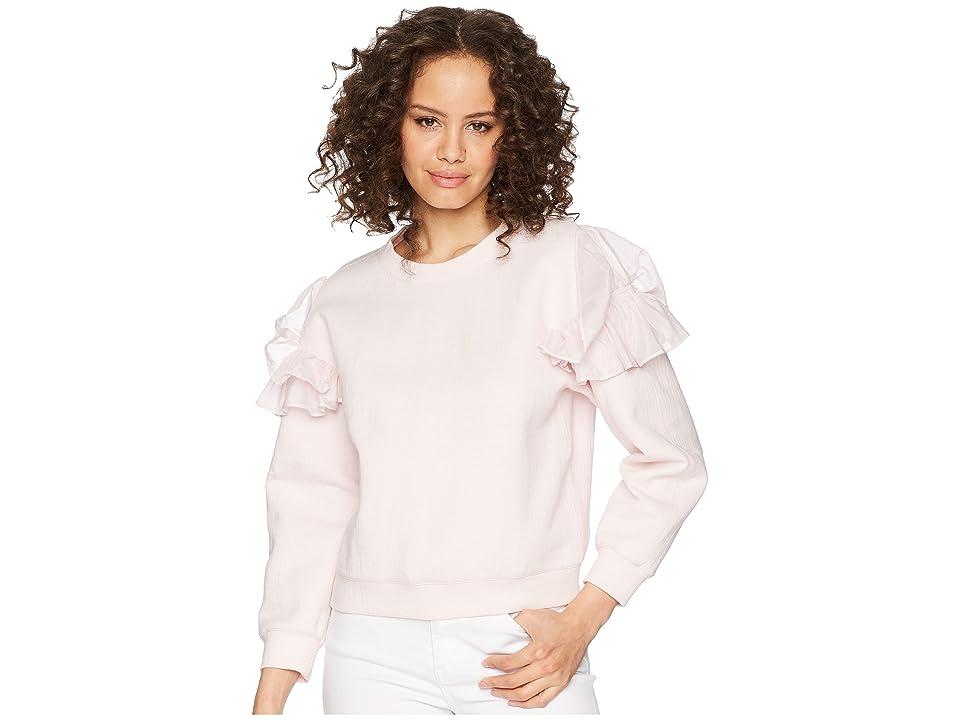 Rebecca Taylor Ruffle Sweatshirt (Candy Floss) Women