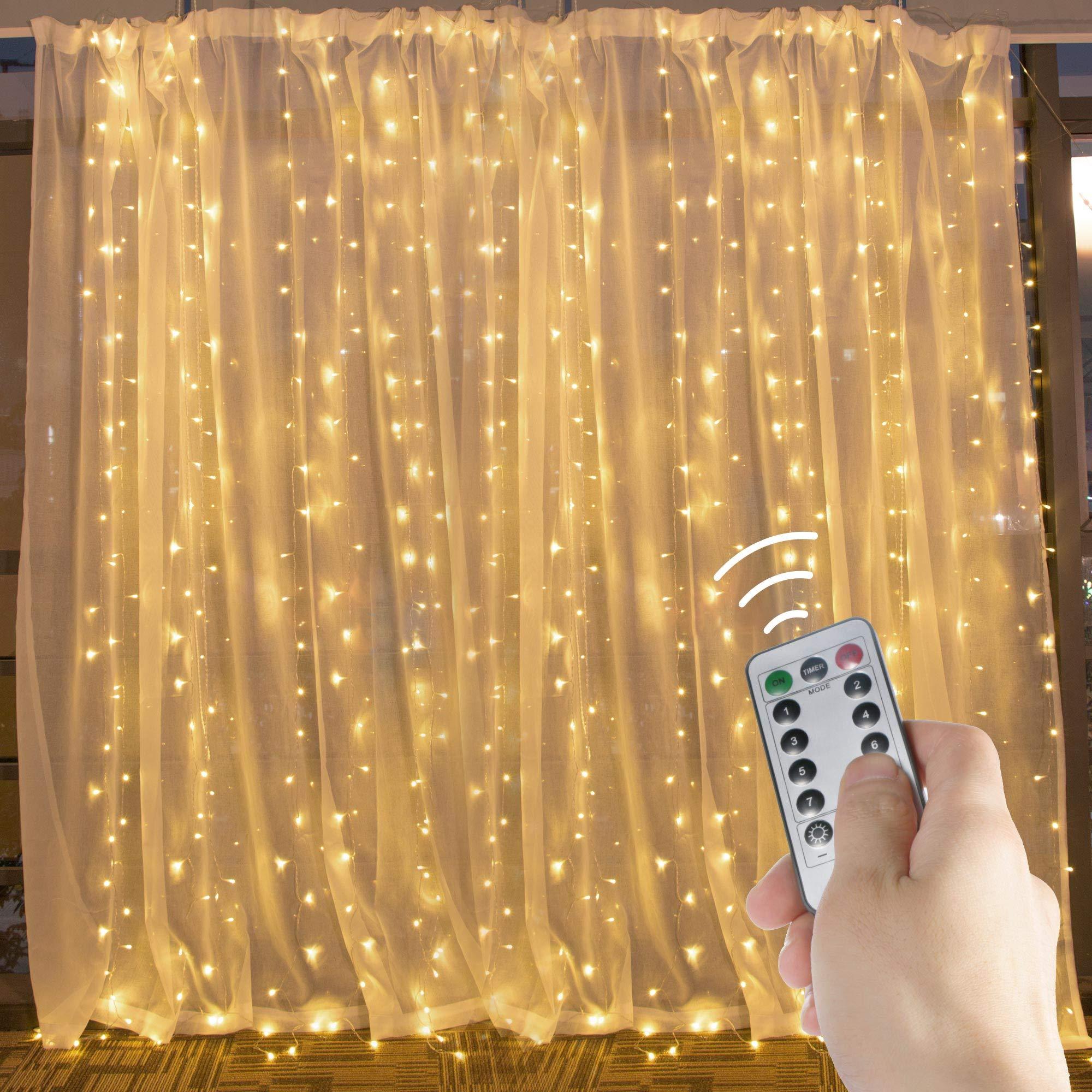 Brightown Window Curtain String Lights