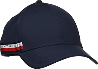 TOMMY HILFIGER Men's Signature Selvedge Baseball Cap, Tommy Navy, ONE