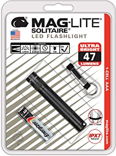 Maglite Solitaire LED 1-Cell AAA Flashlight Black – SJ3A016