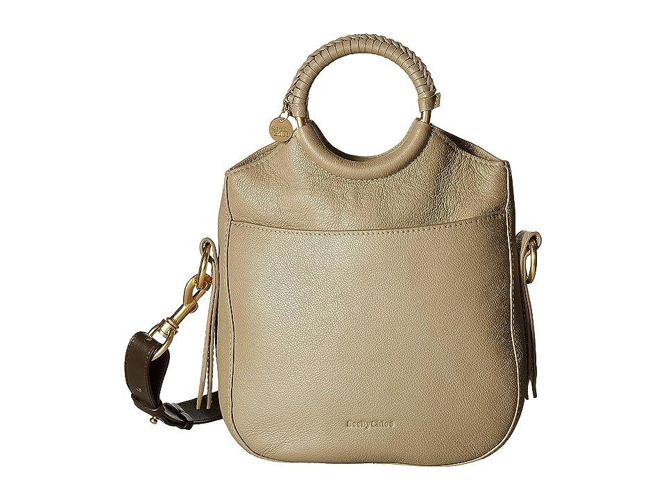 See by Chloe Monroe Small Bracelet Tote (Motty Grey) Tote Handbags