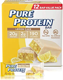 Pure Protein Pure Protein Bars, High Protein, Nutritious Snacks to Support Energy, Lemon Cake, 12 Count, 12 Count