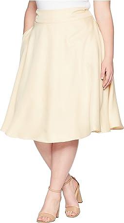 Unique Vintage Plus Size Vivien Swing Skirt