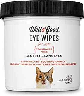 WELL & GOOD Cat Eye Wipes, Pack of 200 Wipes