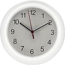 ساعة حائط (ساعة حائط من دون بطارية) - ساعة حائط ايكيا رانش مقاس 25×4 سم، باللون الأبيض