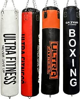 Tailles 1,2 m ou 1,5 m jiu-Jitsu br/ésilien et Taekwondo Muay Thai Grappling Kickboxing ULTRA FITNESS Sac de Frappe de Boxe rempli avec Gants et cha/îne de Suspension MMA karat/é