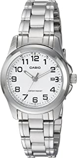 Casio Women's White Dial Stainless Steel Watch - LTP-1215A-7B2