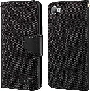 حافظة HTC Desire 12، حافظة محفظة جلدية أكسفورد مع غطاء خلفي ناعم TPU حافظة فليب مغناطيسي لهاتف HTC Desire 12