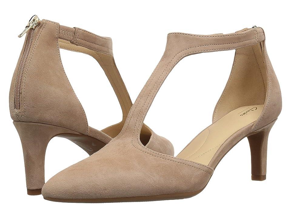 Clarks Calla Lily (Beige Suede) High Heels