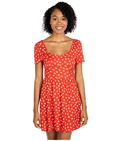 RVCA Fenced Dress (Paprika) Women