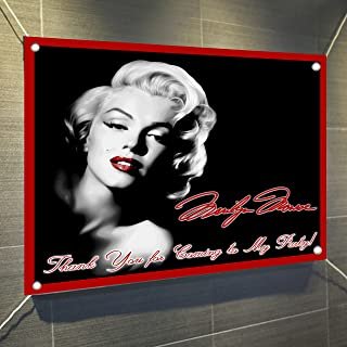 Marilyn Monroe Banner Large Vinyl Indoor or Outdoor Banner Sign Poster Backdrop, Party Favor Decoration, 30