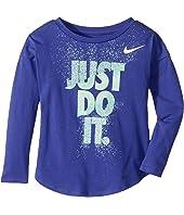 Nike Kids Hard Stop Just Do It Modern Long Sleeve Tee (Toddler)