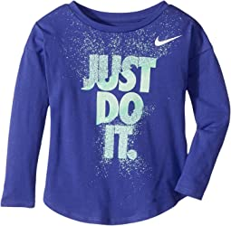 Nike Kids - Hard Stop Just Do It Modern Long Sleeve Tee (Toddler)