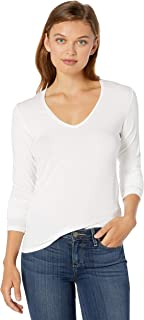 Majestic Filatures Women's Viscose/Elastane Long Sleeve V-Neck