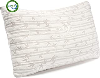 Clara Clark Bamboo Shredded Memory foam King (Cal-King) Size Pillow with removable Washable Pilloecover