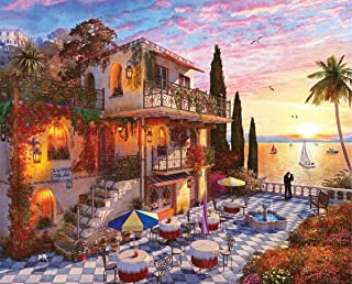 Springbok Puzzles - Mediterranean Romance - 1000 Piece Jigsaw Puzzle - Large 30 Inches by 24 Inches Puzzle - Made in USA -...