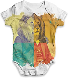TWISTED ENVY The King Lion Baby Unisex Novelty All-Over Print Bodysuit Baby Grow Baby Romper