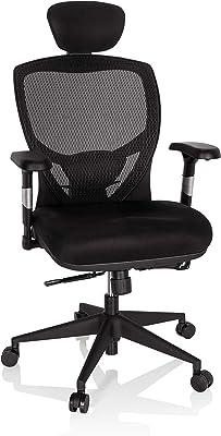 hjh OFFICE 657100 silla de oficina VENUS BASE asiento tela/respaldo malla negro silla ergonómica