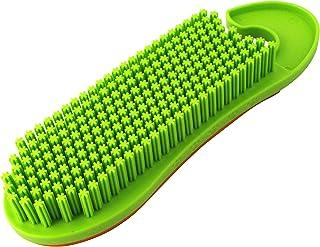 富士 掃除 ブラシ + ラバー らくらくおそうじ トルトル ホコリ取り ペットの毛 髪の毛 除去 グリーン 7×4×23cm