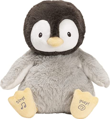 "GUND Baby Animated Kissy The Penguin Stuffed Animal Plush, Black/White/Grey, 12"""