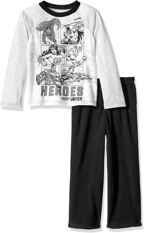 Justice League Boys' Big Heroes Unite Pajama Set
