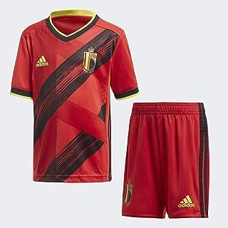adidas Dziecięcy zestaw do piłki nożnej RBFA H MINI, góra: Kolegiatny czerwony/czarny/jasnożółty dolny: Kolegiatowy czerwo...