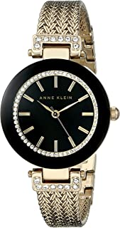 Anne Klein Women's Swarovski Crystal Accented Mesh Bracelet Watch