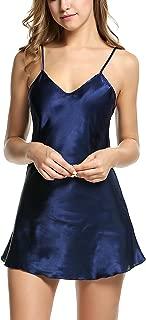 Avidlove Women's Pajamas Satin Nightgown Mini Slip Sleepwear Short Nightwear