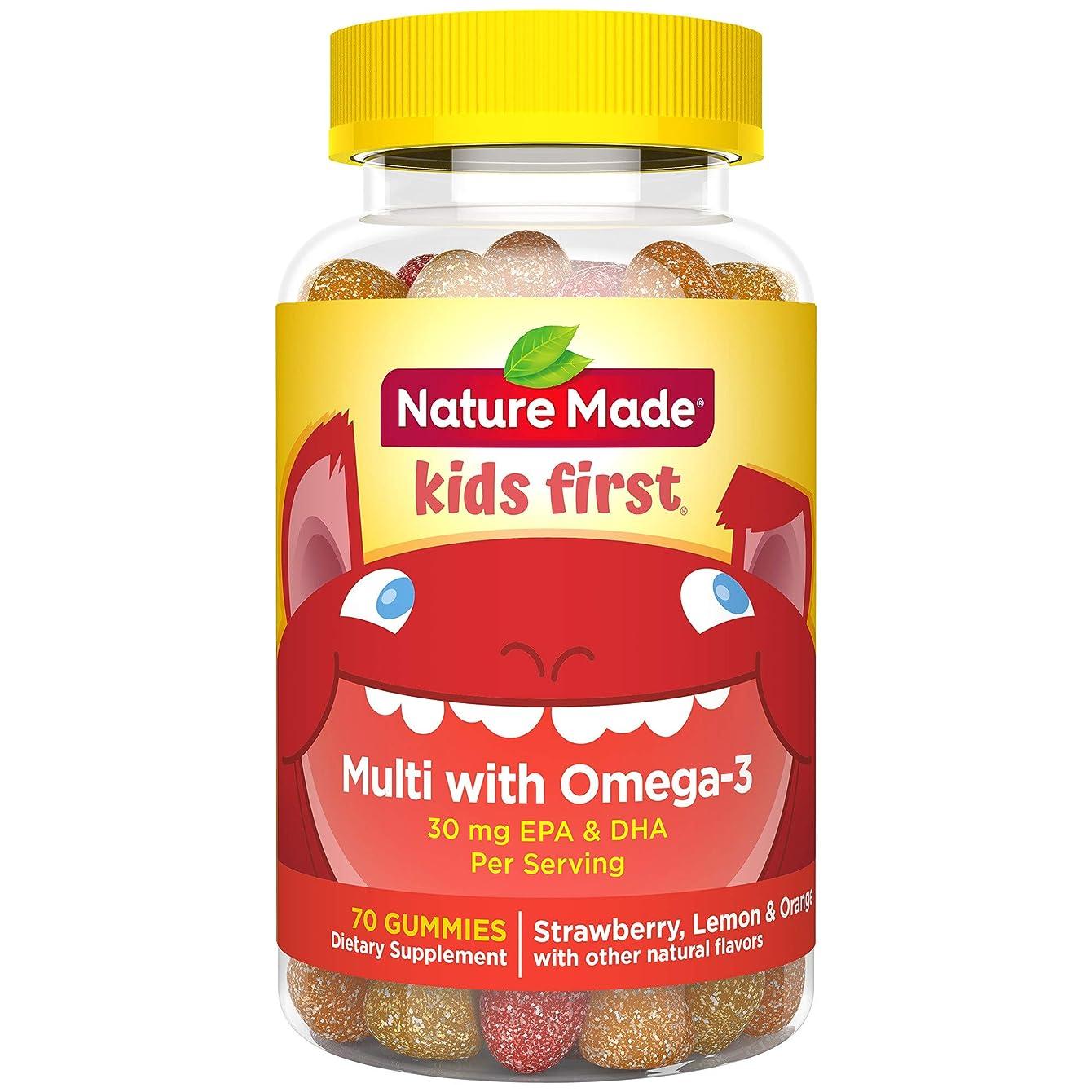 列挙するおもちゃ肥沃なネイチャーメイド Nature Made キッズファースト マルチビタミン オメガ3 グミ 70粒 [並行輸入]