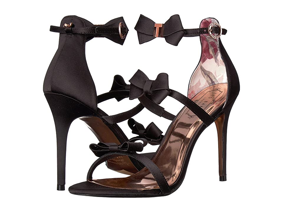 Ted Baker Nuscala Stiletto Sandal (Black Textile) High Heels