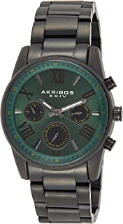 Men's Multifunction Watch - 3 Subdials Day, Date, GMT On a Stainless Steel Bracelet - AK912