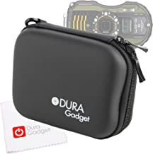 DURAGADGET Black 'Shell' Camera Carry Case with Belt Clip + Bonus Cleaning Cloth Worth $4.99 for Pentax Optio WG-1, WG-2, WG-3, Ricoh WG-4, WG-10 & WG-20 (Including All GPS Variants)