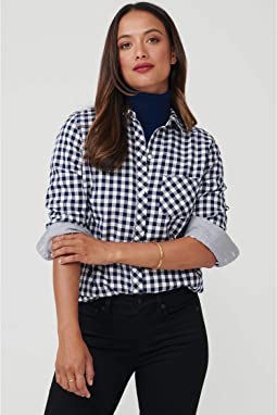 Navy/White Check