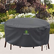 Outdoor Patio Furniture Covers, Waterproof UV Resistant Anti-Fading Cover for Large Round Table Chairs Set, Grey, 96 inch ...