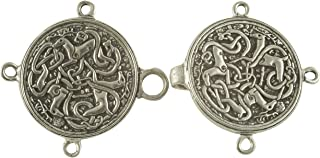 Celtic Hart (Stag or Deer) Cloak or Cape Clasp - Pewter