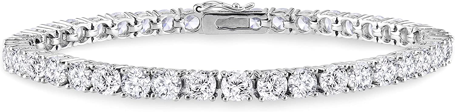 Abbie+Cleo Round Factory outlet Cubic Zirconia Tennis excellence Bracelet Silv Sterling in