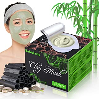20 Pack Clay Peel Off Face Masks, Clay Mud Mask Skin Care Facial Mask Sheet Mask with Hydrating, Hyaluronic Acid Moisturiz...