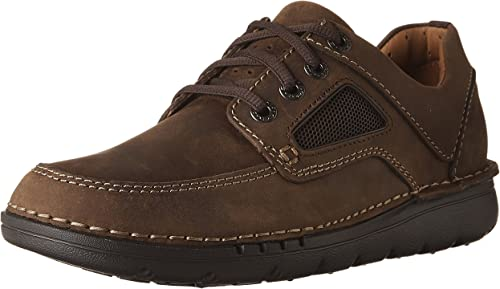 Clarks Unnature Time Mens Lace Up Oxfords Dark braun Leather 13