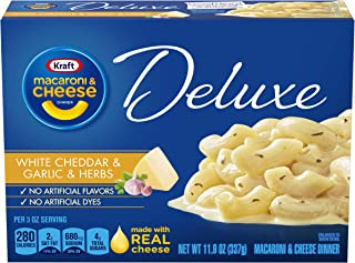 Kraft Deluxe White Cheddar & Garlic & Herbs Macaroni and Cheese Meal (11.9 oz Box)