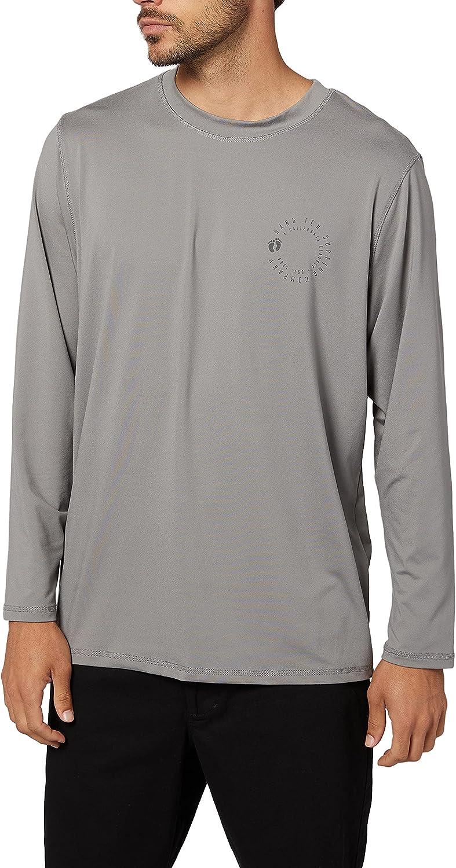 Hang Ten Men's Long Sleeve Rashguard T-Shirt | UV Protection, SPF 50+ |