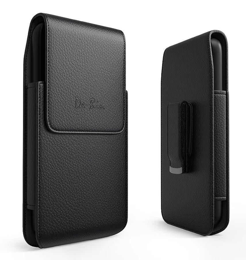 Debin Galaxy S9 Plus S10 Plus Holster - Leather Cell Phone Belt Holster Case with Belt Clip Pouch Holder for Samsung Galaxy S9+ Plus / S10+ Plus - Fits Phone w/Case On - Swivel Belt Clip fmpbj356143