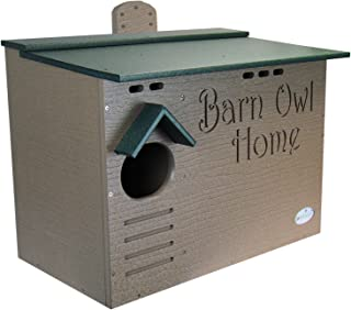 JCs Wildlife Barn Owl Nesting House - Large Home Made w/Recycled Poly Lumber