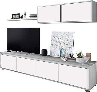 Habitdesign 016663L - Mueble de salón Moderno modulos Comedor Alida Medidas: 43 cm de Altura x 200 cm de Ancho x 41 cm d...