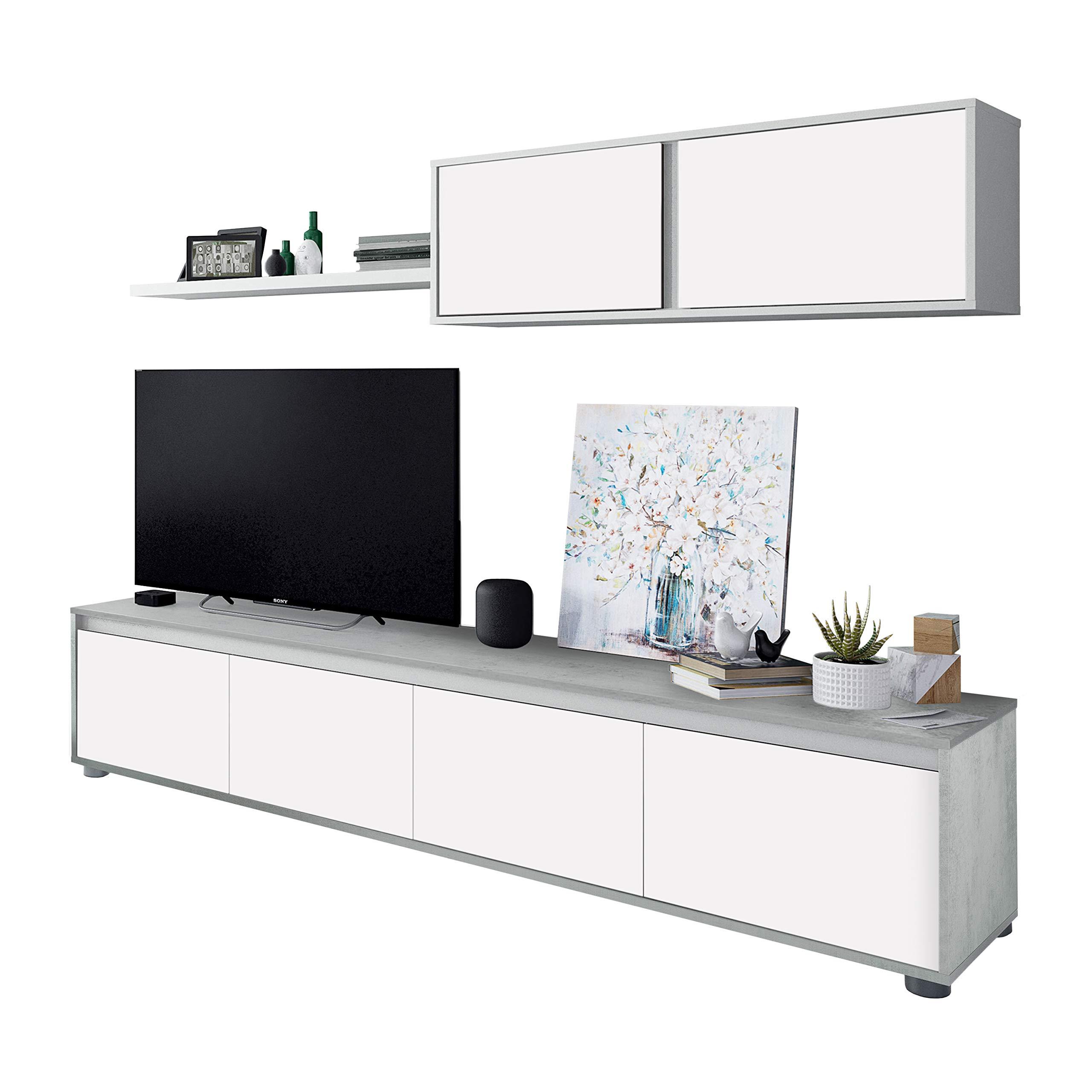 Habitdesign 016663L - Mueble de salón Moderno, modulos Comedor ...