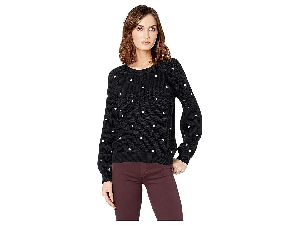 Lucky Brand Polka Dot Sweater (Black Multi) Women