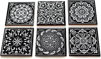 Shiv Kripa Blue Pottery Home Decorative Floral Showroom Ceramic Mosaic Wall Handmade Kitchen Washroom Tile Tabletop...